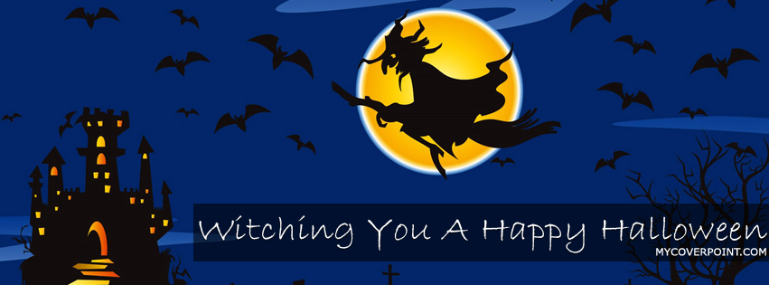Witching You A Happy Halloween Facebook Cover