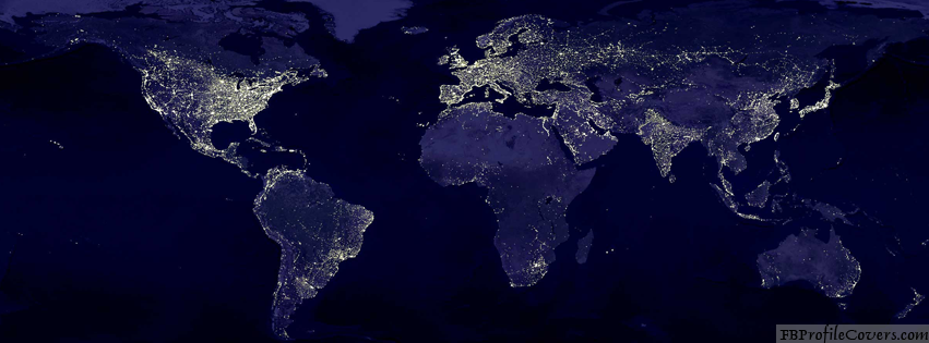 World At Night Facebook Timeline Cover