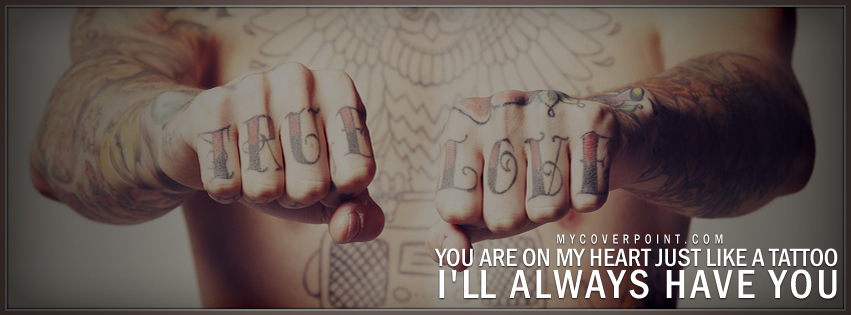 You Are On My Heart Like Tattoo Facebook Cover
