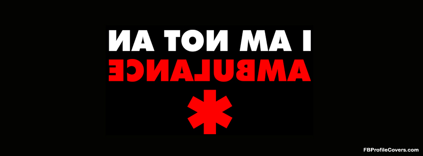 Funny ambulance Facebook cover, fb timeline covers
