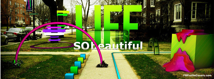 beautiful life Facebook cover, fb timeline cover