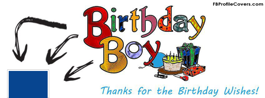 birthday boy Facebook timeline profile cover photo