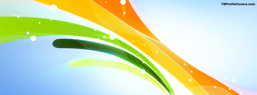 colorful ribbons Facebook profile timeline covers