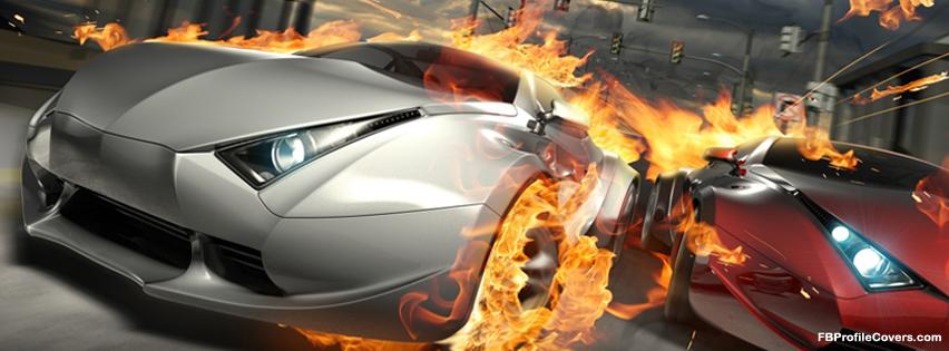 Destructive Car Race Facebook Timeline Profile Covers