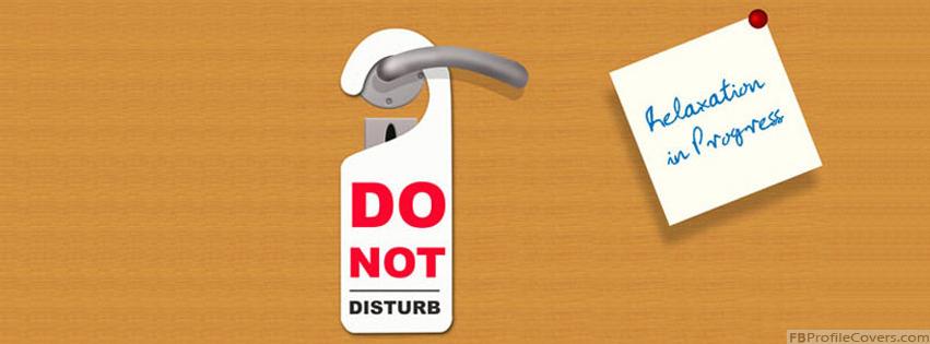 do not disturb facebook timeline profile cover