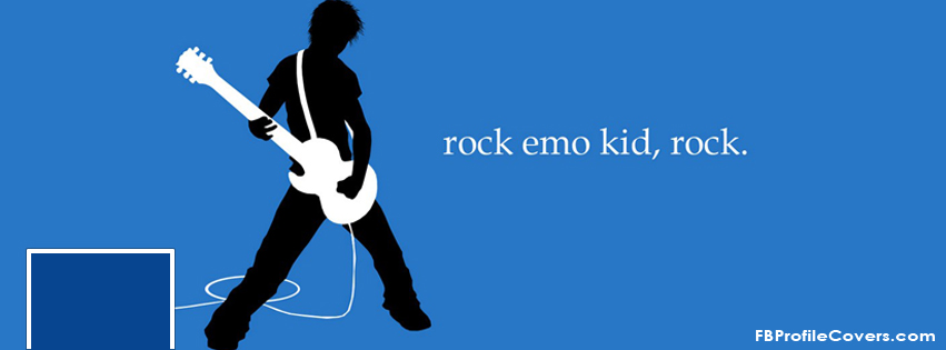 Emo kid rocks Facebook timeline cover pic