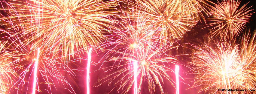 firework cover for facebook timeline profile cover