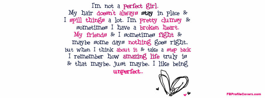 Cute Quote Facebook Profile Cover For Girls - Facebook ...