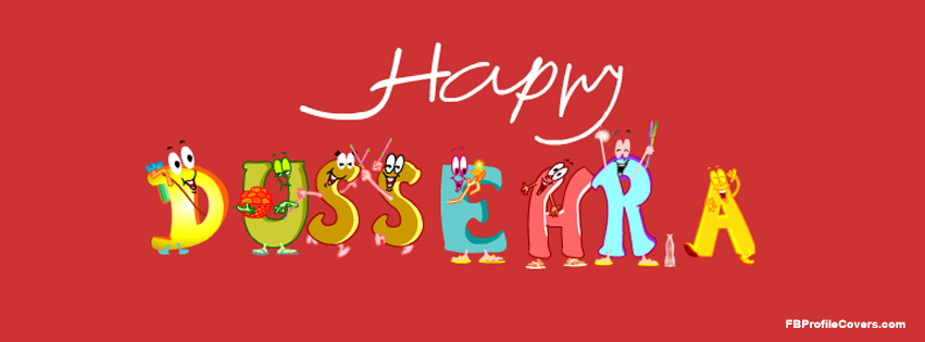 Happy Dussehra Facebook Timeline Profile Cover