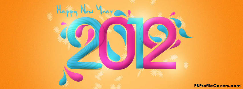 Happy New Year 2012 Facebook Timeline Cover