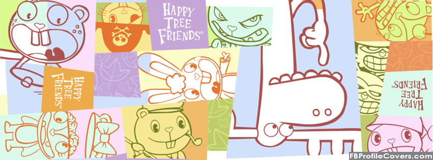 happy tree friends facebook timeline cover