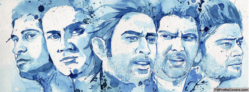 Indian cricket players bleed blue Facebook timeline cover