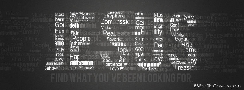 jesus word art Facebook Timeline cover