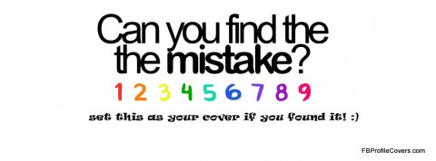 Find The Mistake