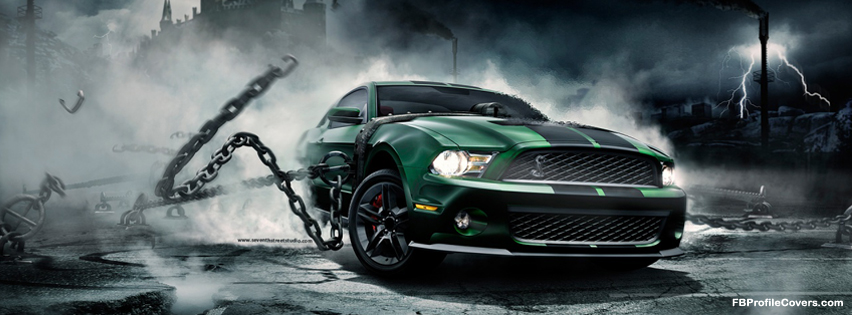 mustang monster car FB cover, Facebook timeline covers