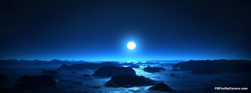 Sea Moon Facebook Timeline Profile Cover