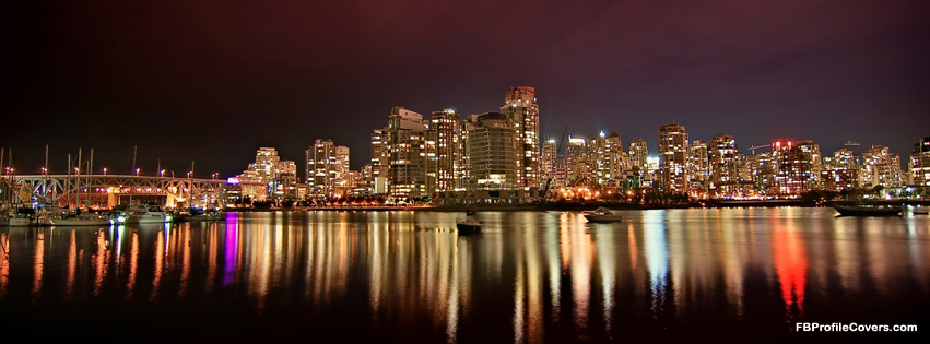 Vancouver Night Facebook Cover