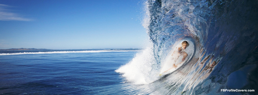 Water Surfing Facebook Cover